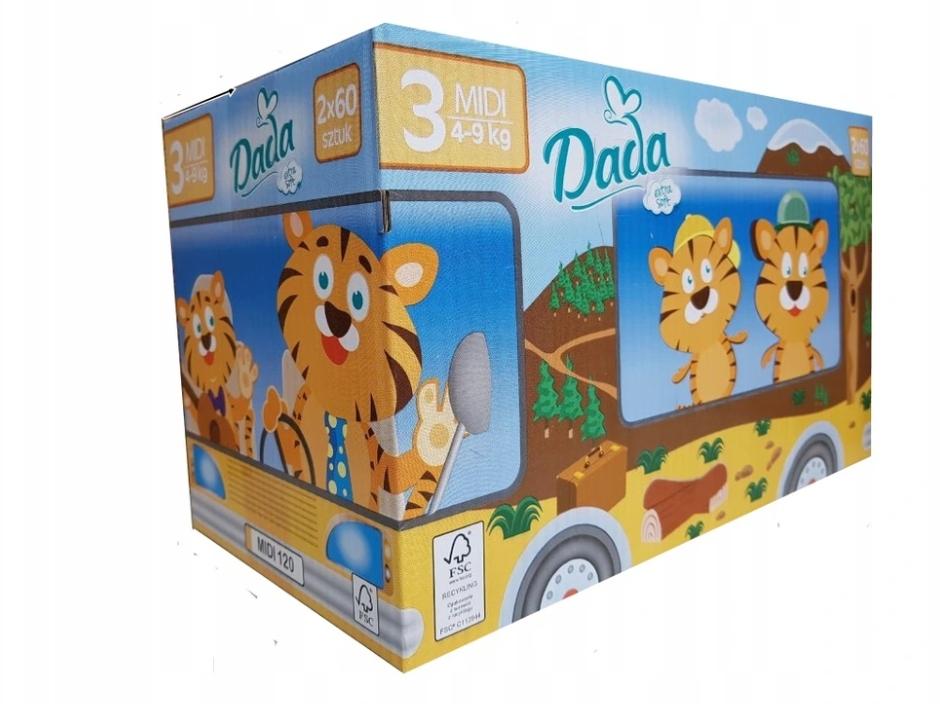 Подгузники Pampers DADA Soft 3 Midi 120шт KAMPER