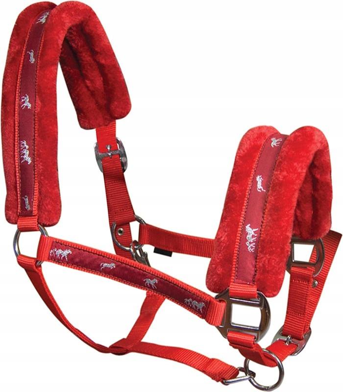 YORK Softy недоуздок для лошади красный FULL