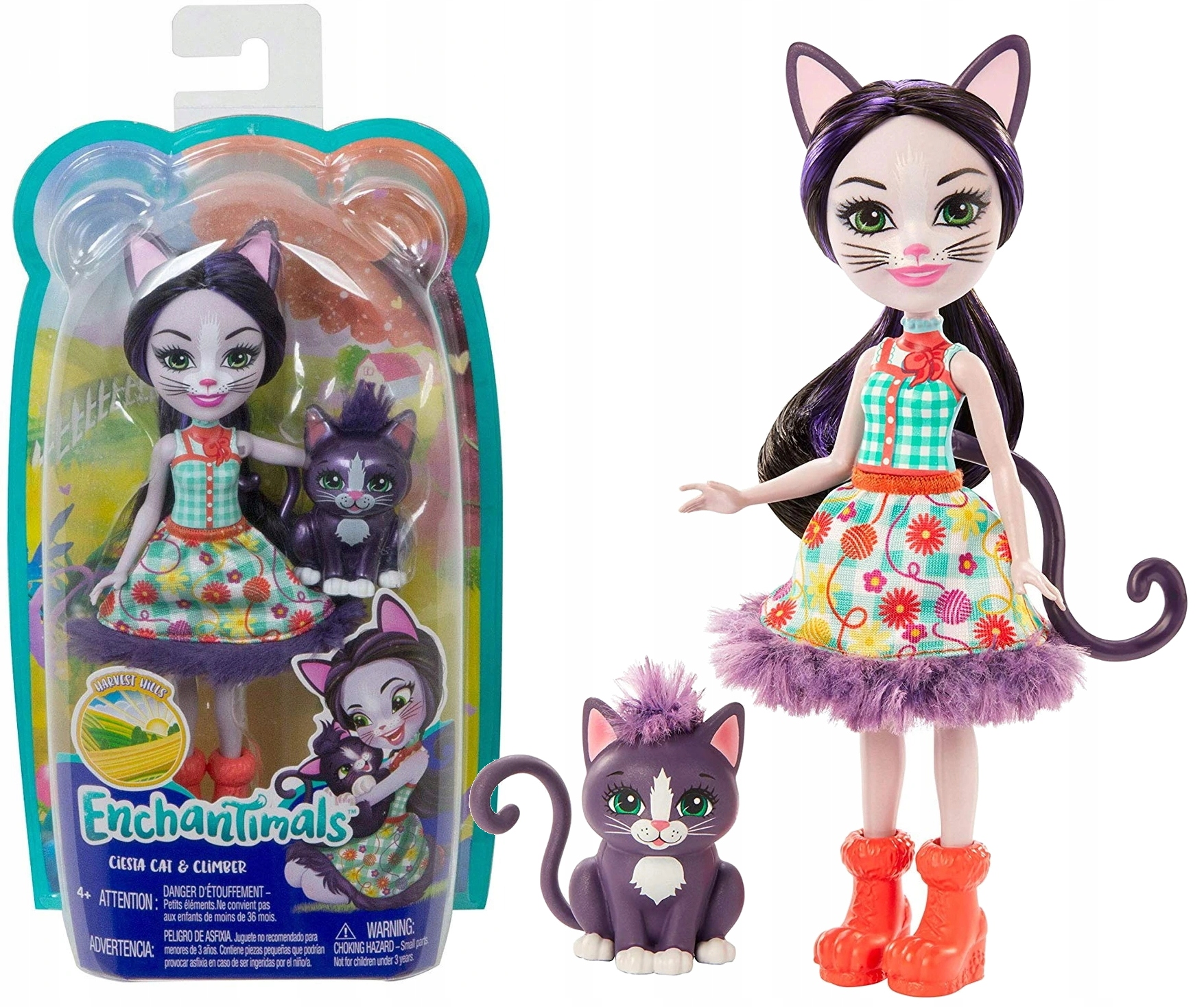 ENCHANTIMALS BÁBKA S ANIMAL CAT GJX40