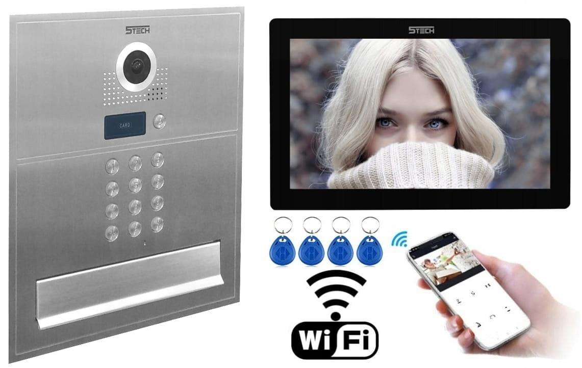 WIDEODOMOFON 5tech SKRZYNKA na listy IP WIFi LCD10