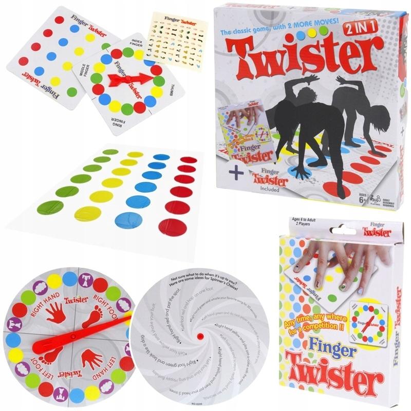 Twister 2w1 Klasyczny i Finger Gra Zręcznościowa