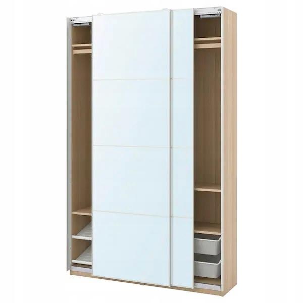 IKEA PAX aula šatník dub zrkadlo 150x44x236 cm