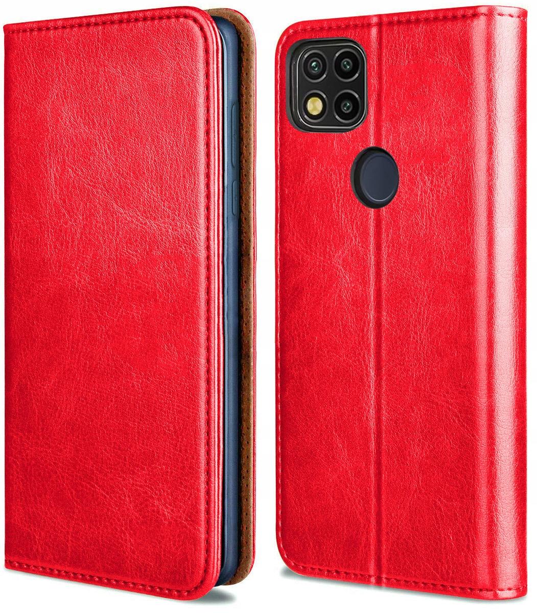 Etui do Xiaomi Redmi 9C Skórzane Portfel + Szkło