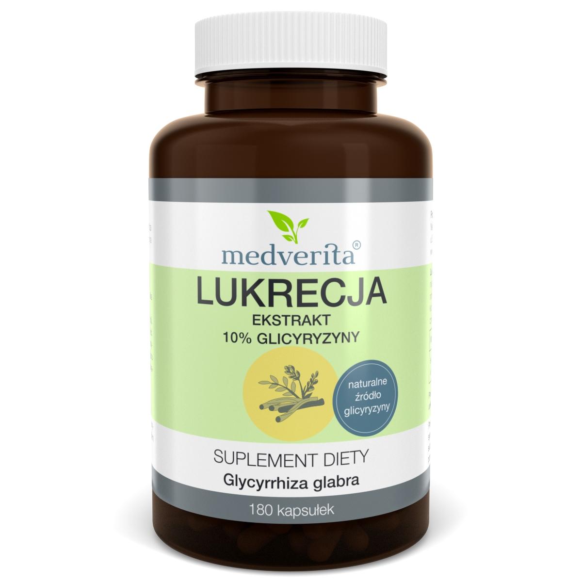 LUKRECJA ekstrakt z korzenia Glicyryzyna 180 kaps
