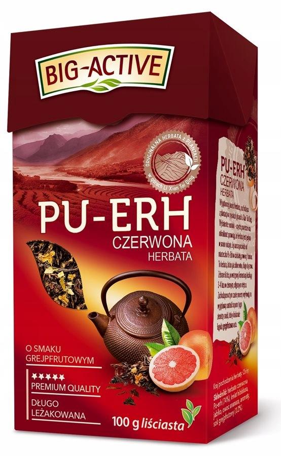 BIG-ACTIVE herbata czerwona Pu-Erh grejpfrutowa