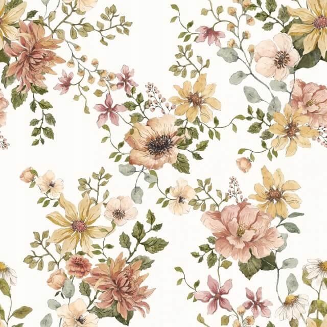 Samiboo Otulacz premium 100x100 vintage bloom