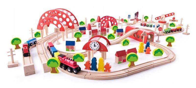 Hračky pre deti Drevené Osem vláčik Woody