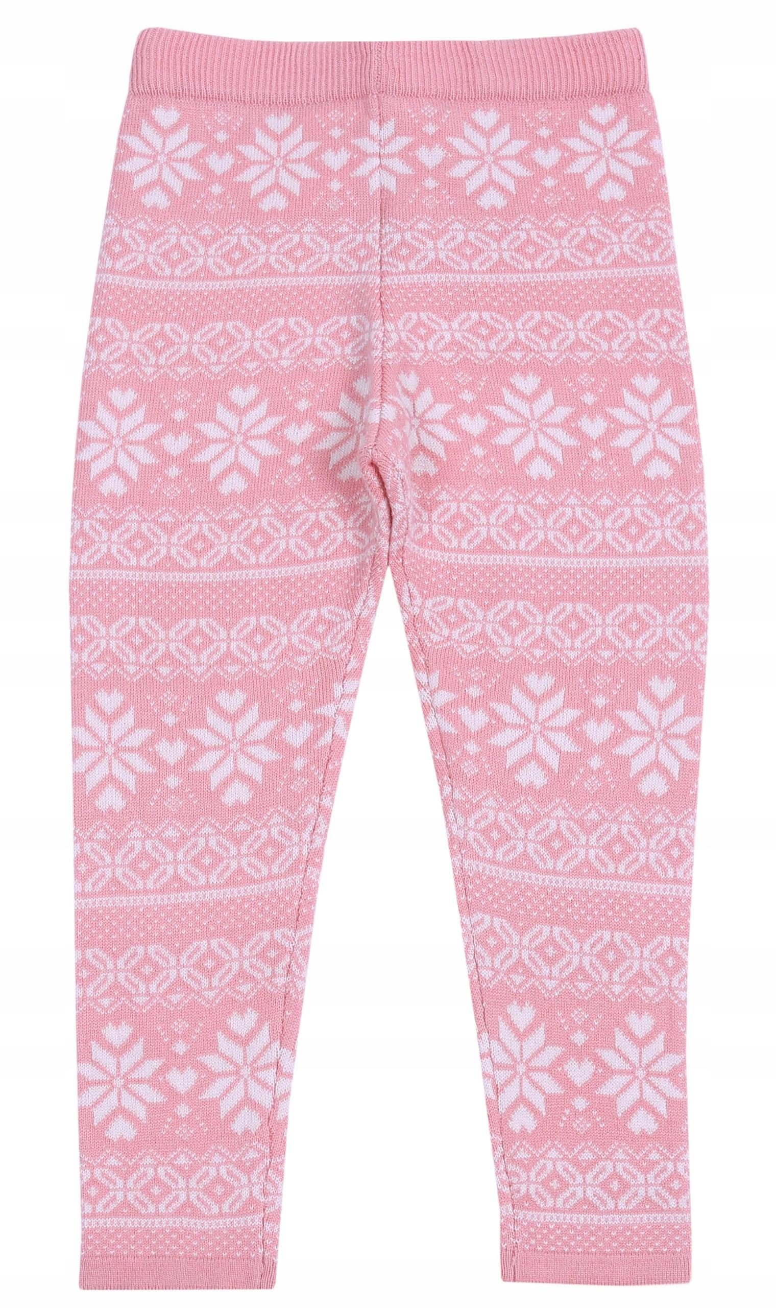 Ružová leg warmers v vzory PRIMARK 7-8 rokov 128 cm
