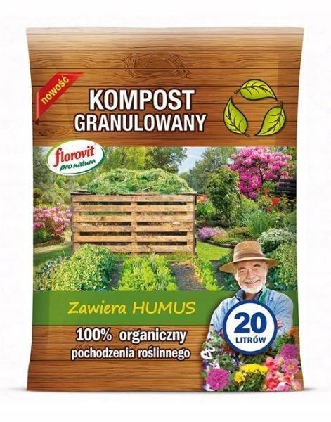 Kompost granulowany Florovit Pro Natura 20l
