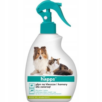 Happs Жидкость от клещей и комаров для животных 200мл