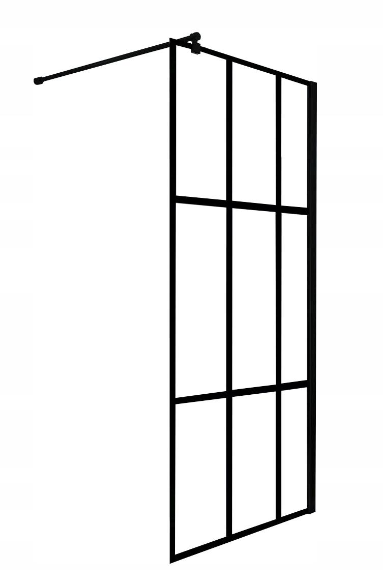 Sprchová stena 120x200 cm Nero Loft čierna