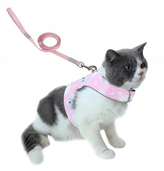 Безнапорная шлейка для CAT DOG + LEASH REFLECTIVE