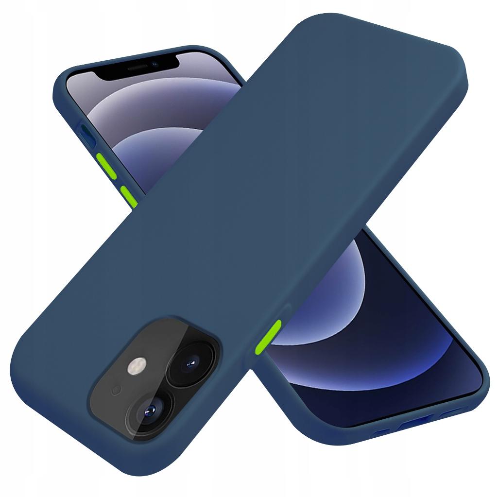 Etui do iPhone 12 Case Silikon + Szkło 9H