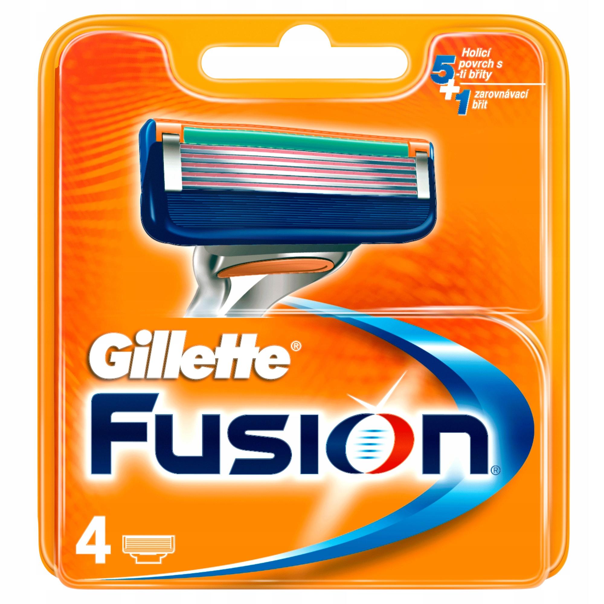 Gillette FUSION ostrza wkłady 4szt 100% ORYGINALNE
