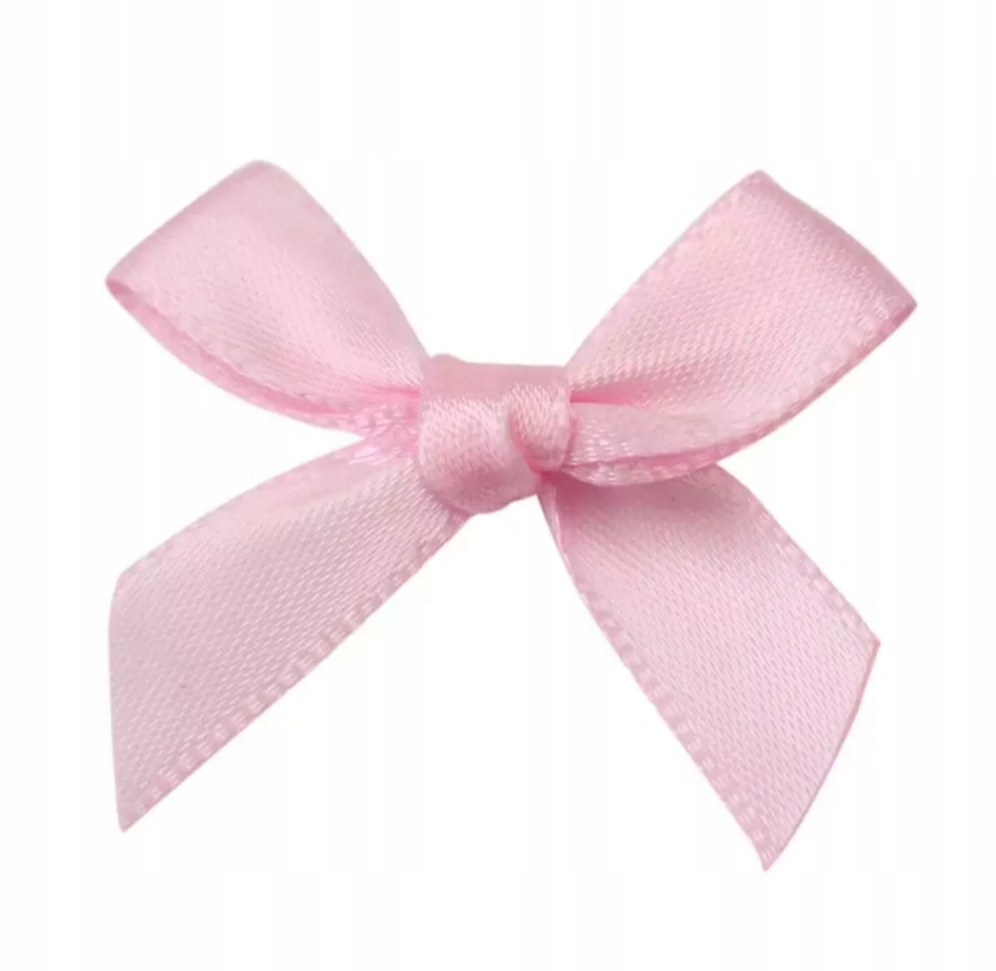Розовый мини-бант из атласа 4 см, 5 шт.