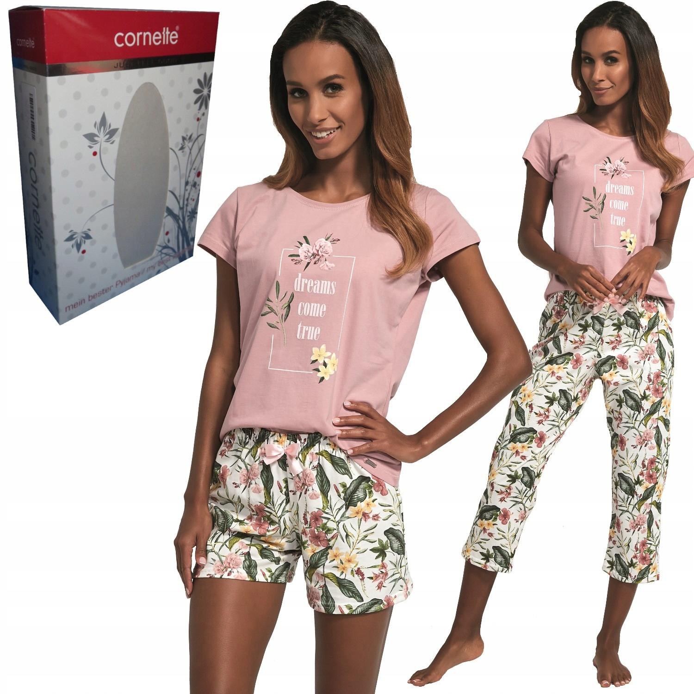 CORNETTE piżama damska 665/172 COME TRUE 3-części