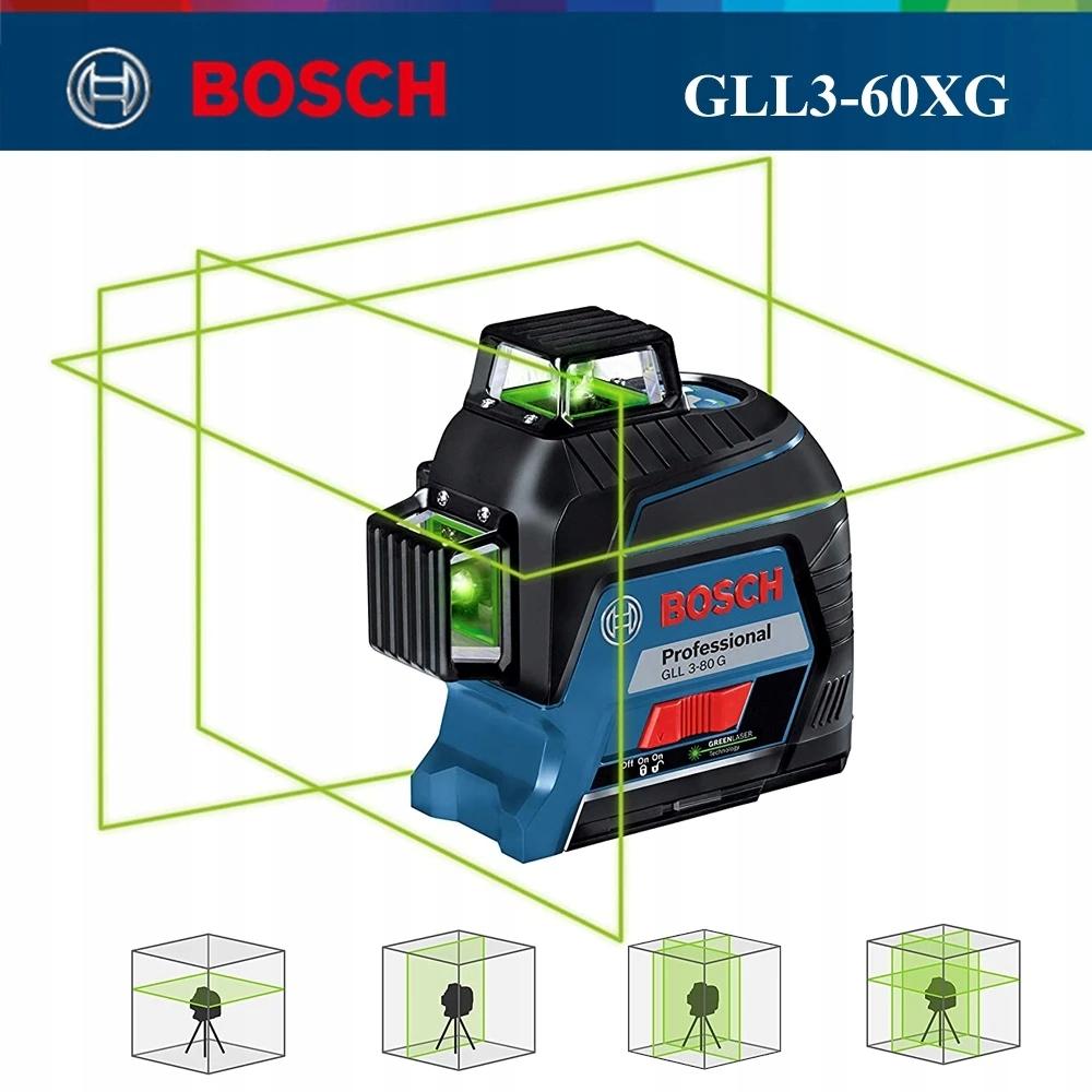 Лазерный нивелир BOSCH 3x360 °, 12 линий GLL3-60XG НОВИНКА!
