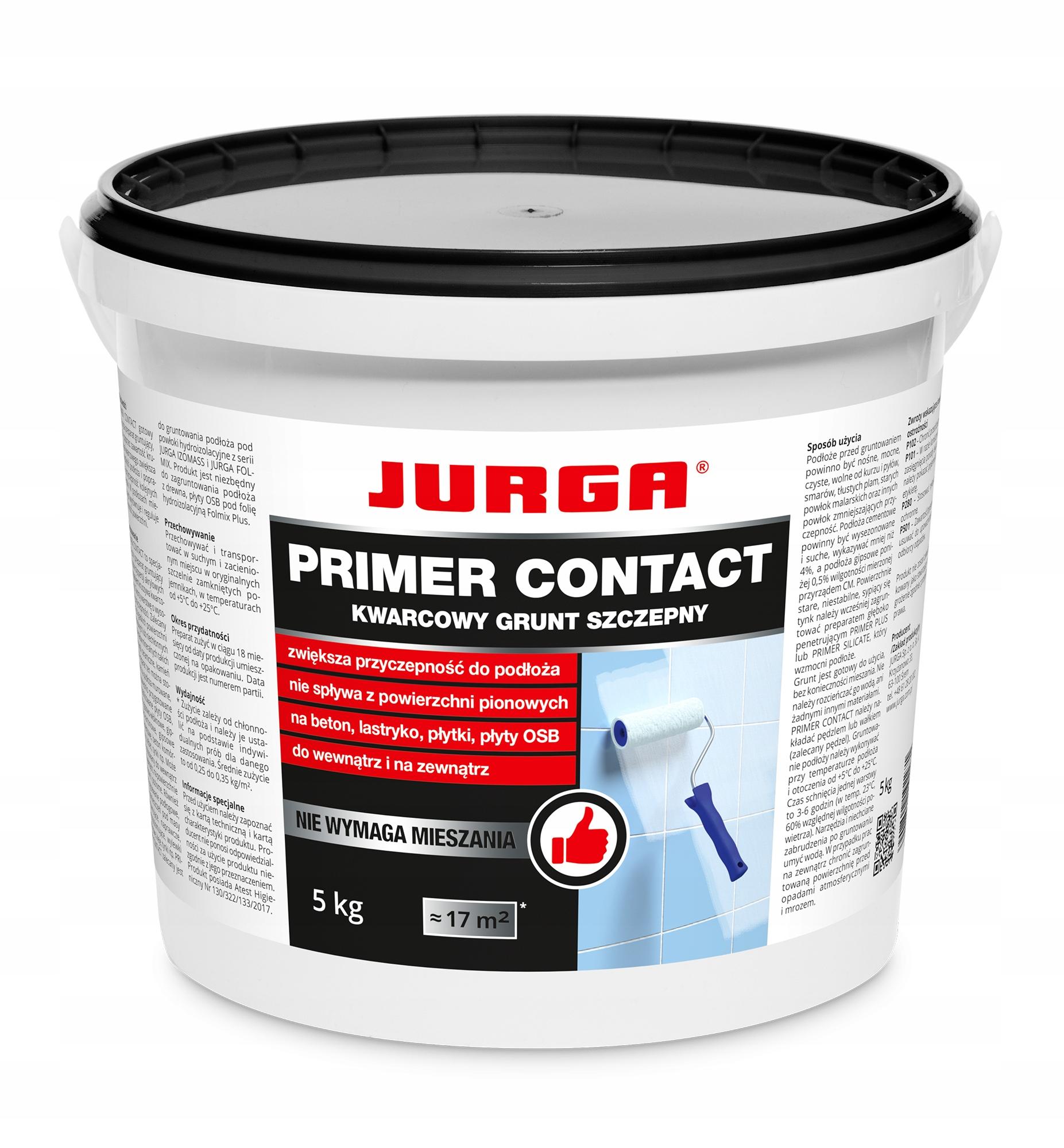 Jurga Primer contact kwarcowy grunt szczepny 5kg