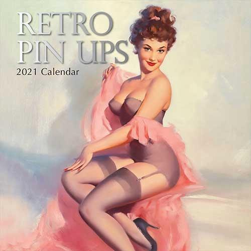 Kalendár 2021 --- retro PIN UPS 30x30cm
