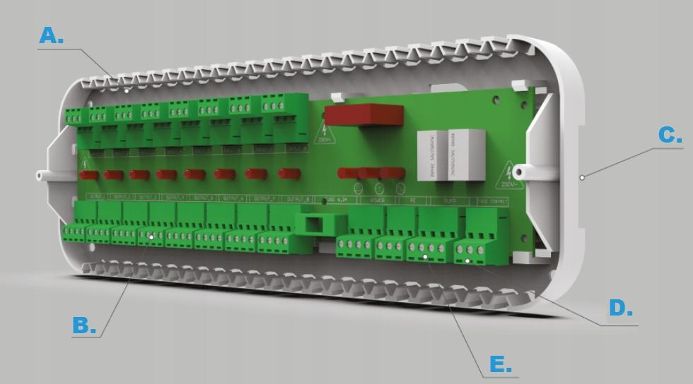 TECH L-5 S SLIM STEROWNIK OGRZEWANIA PODŁOGOWEGO Szerokość folii 0 cm