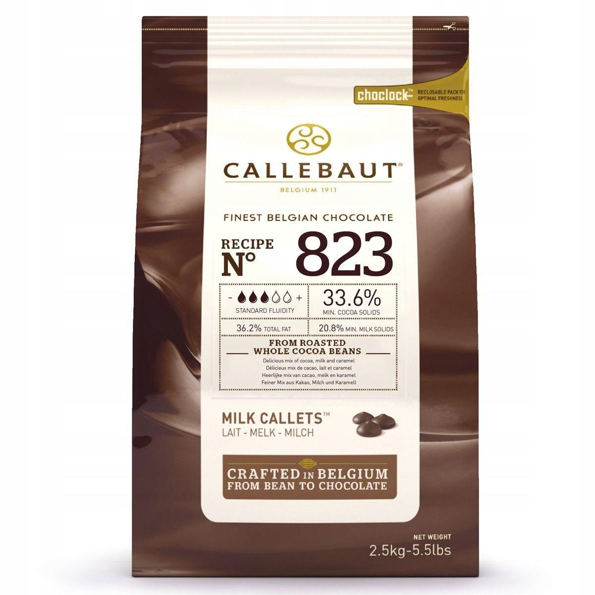 Молочный шоколад Callebaut N823, 2,5 кг