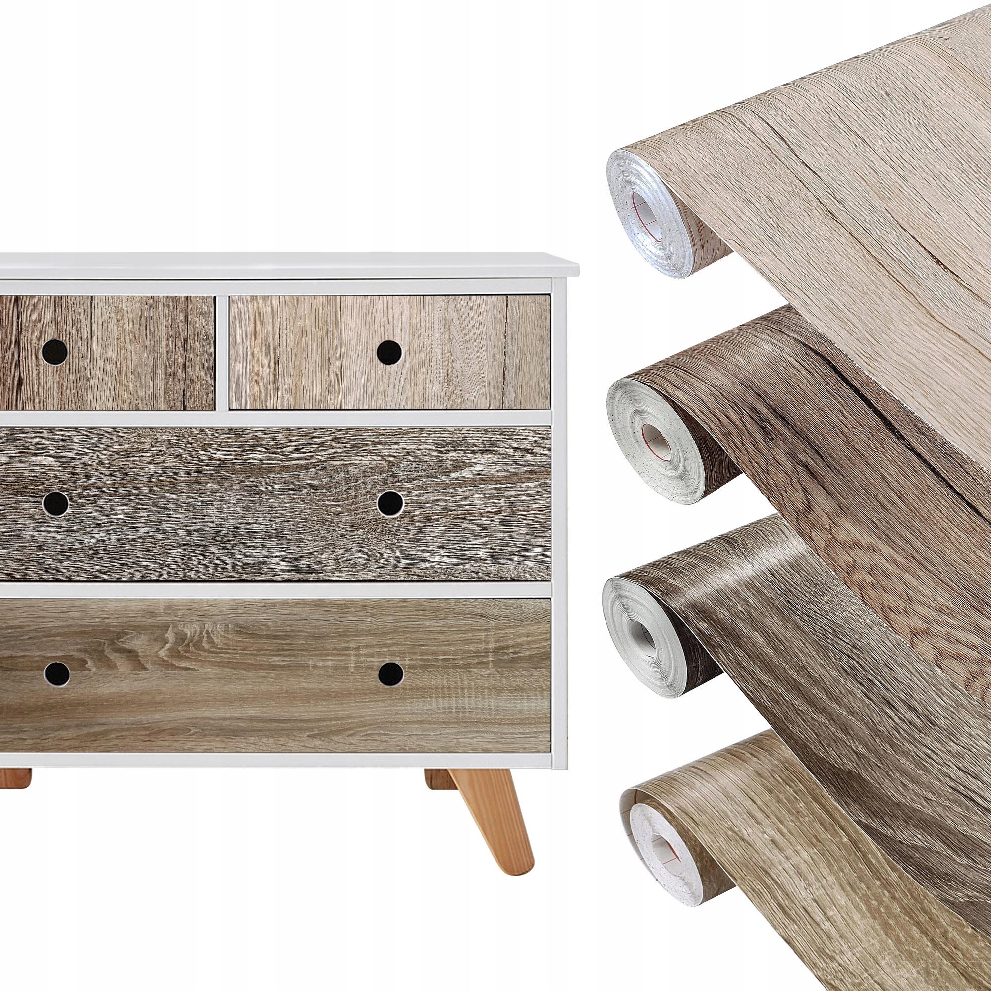 Шпон Мебельная пленка OAK SONOMA 4 узора 45x200 см