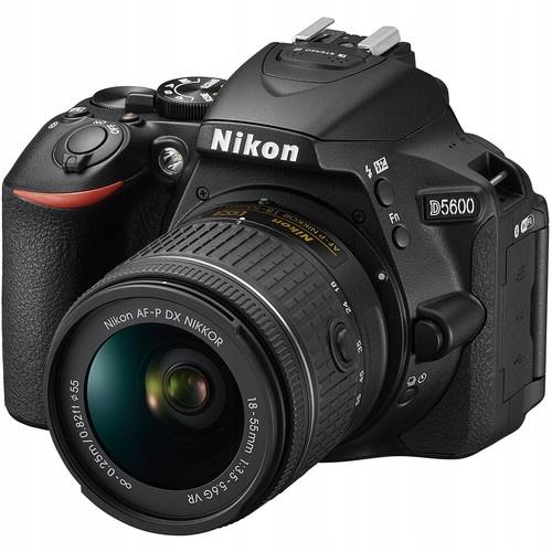 Lustrzanka Nikon D5600 + Obiektyw 18-55 mm Vr Nowy