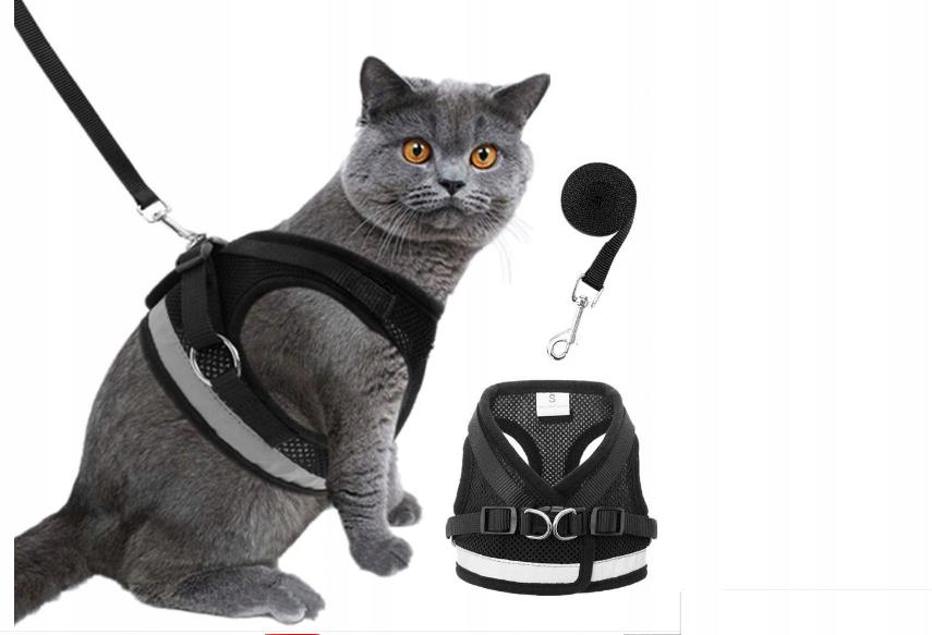 Шлейка без давления для кошки с поводком - XS REFLECTIVE