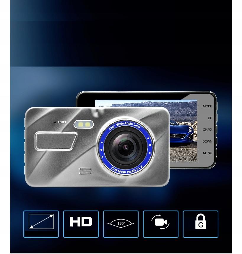 """Video Rejestrator Jazdy Kamera samochodowa cofania Przekątna ekranu 4"""""""