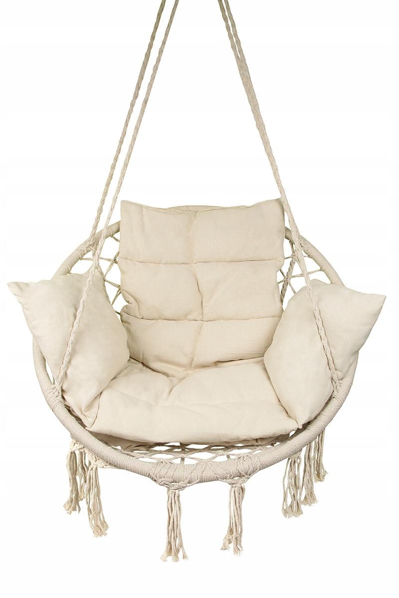 Duża HUŚTAWKA BOCIANIE GNIAZDO fotel 60cm+PODUSZKA