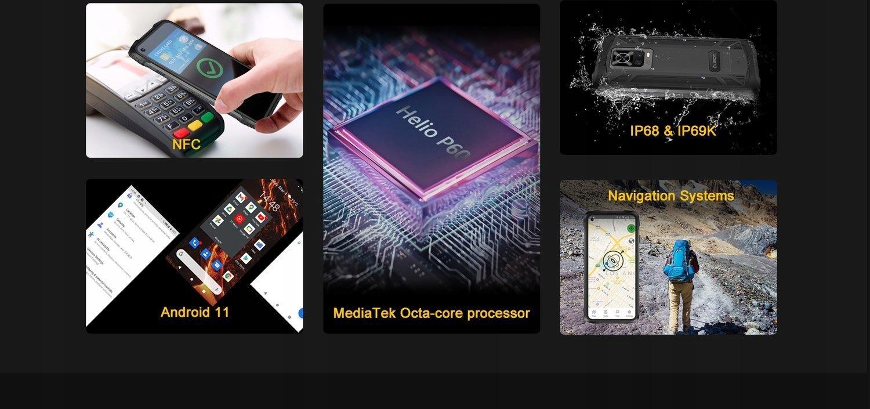 CUBOT KING KONG 7 8/128GB NFC LTE PANCERNY IP69K Kolor czarny