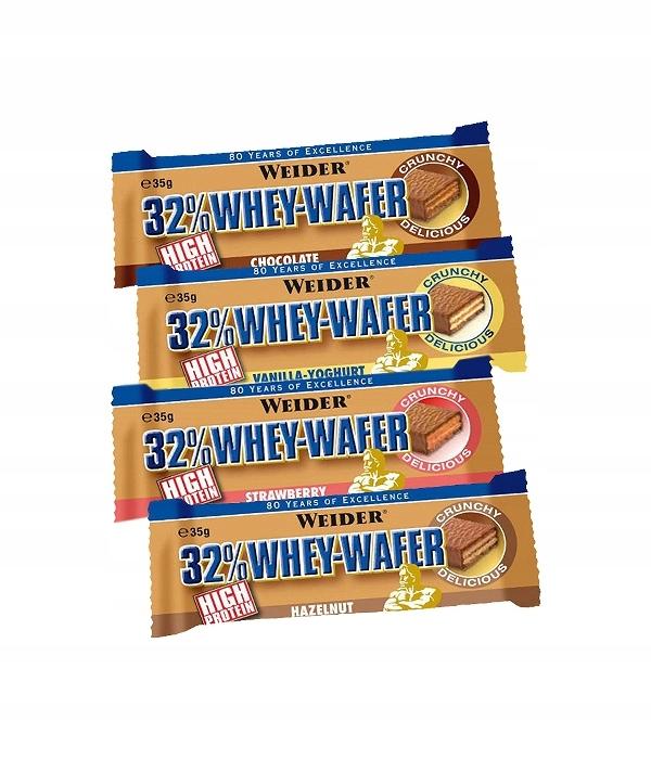 WEIDER 32% PELKŲ BALTYMŲ WAFER 35g WAFER BAR