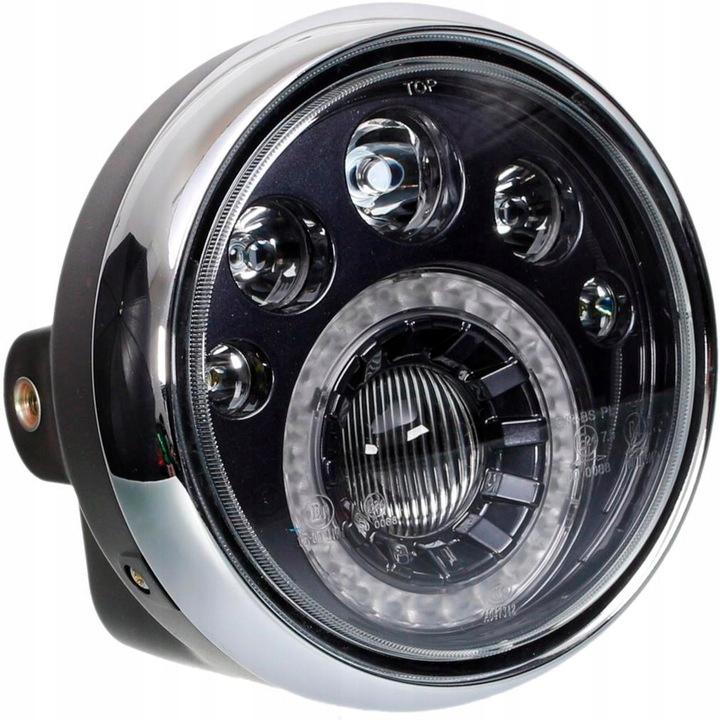 REFLEKTOR LAMPA LED PRZÓD MOTOCYKL HOMOLOGACJA Producent części Moretti