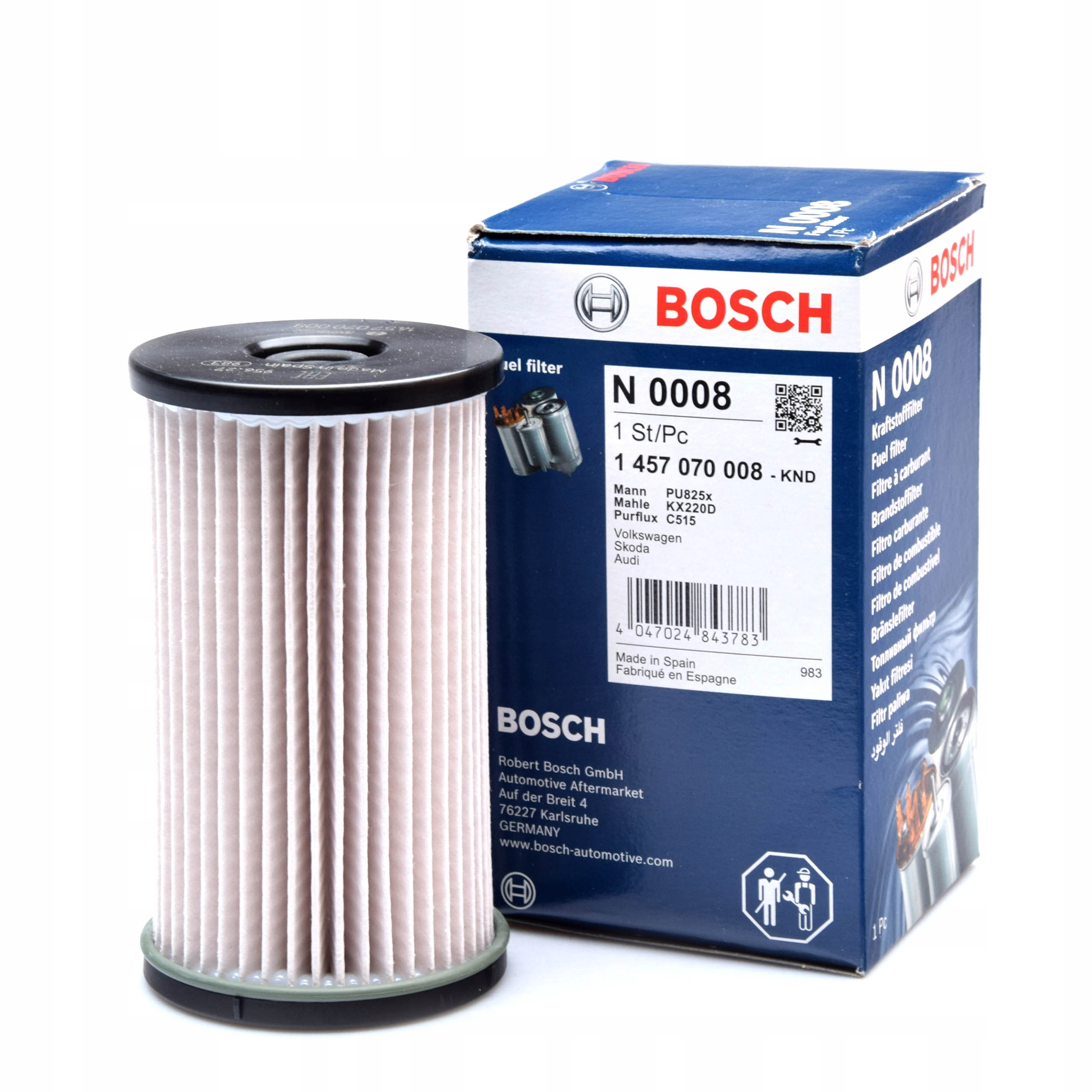 фильтр топлива vw passat b6 cc touran 20 tdi bosch