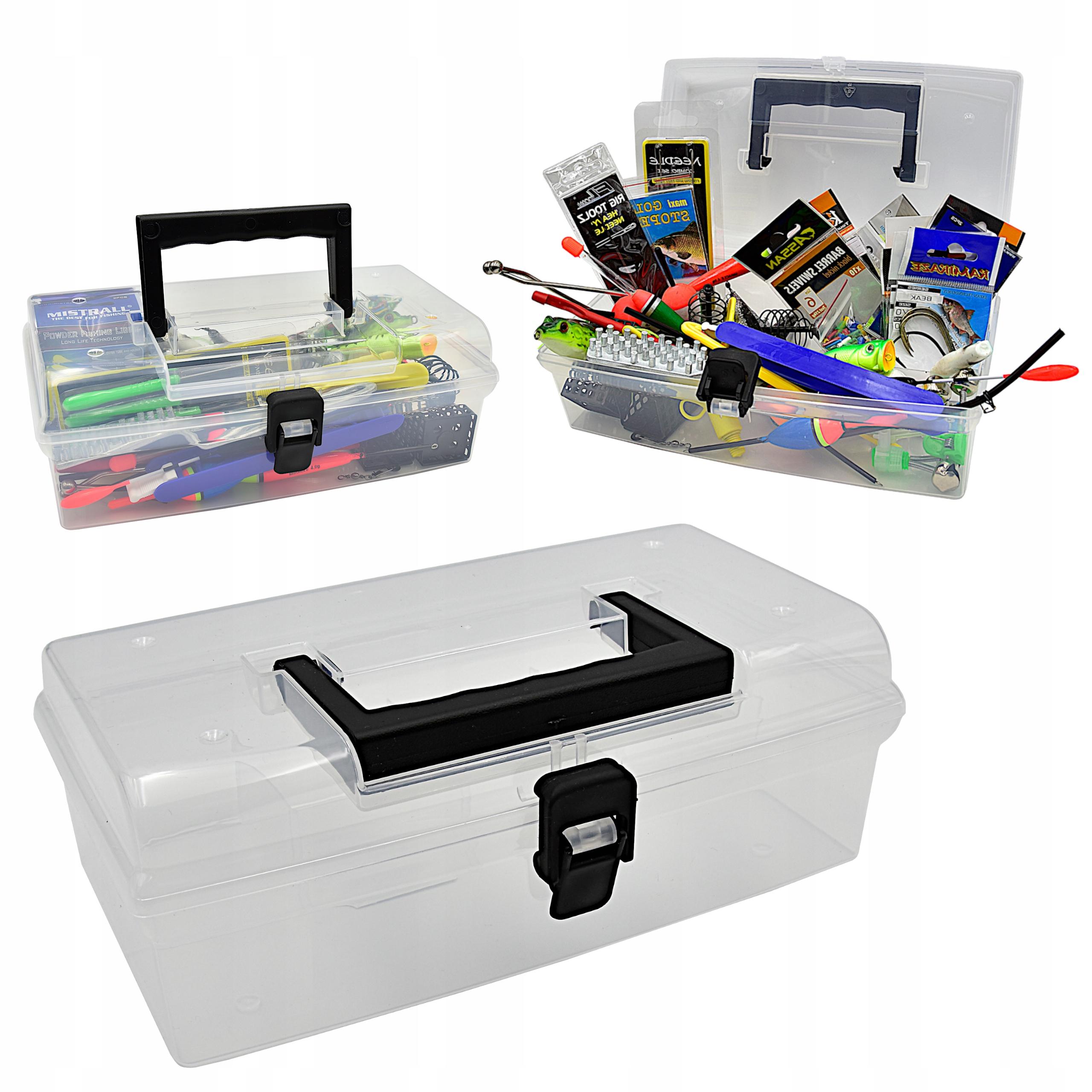 SKRZYNKA wędkarska pudełko organizer NA AKCESORIA