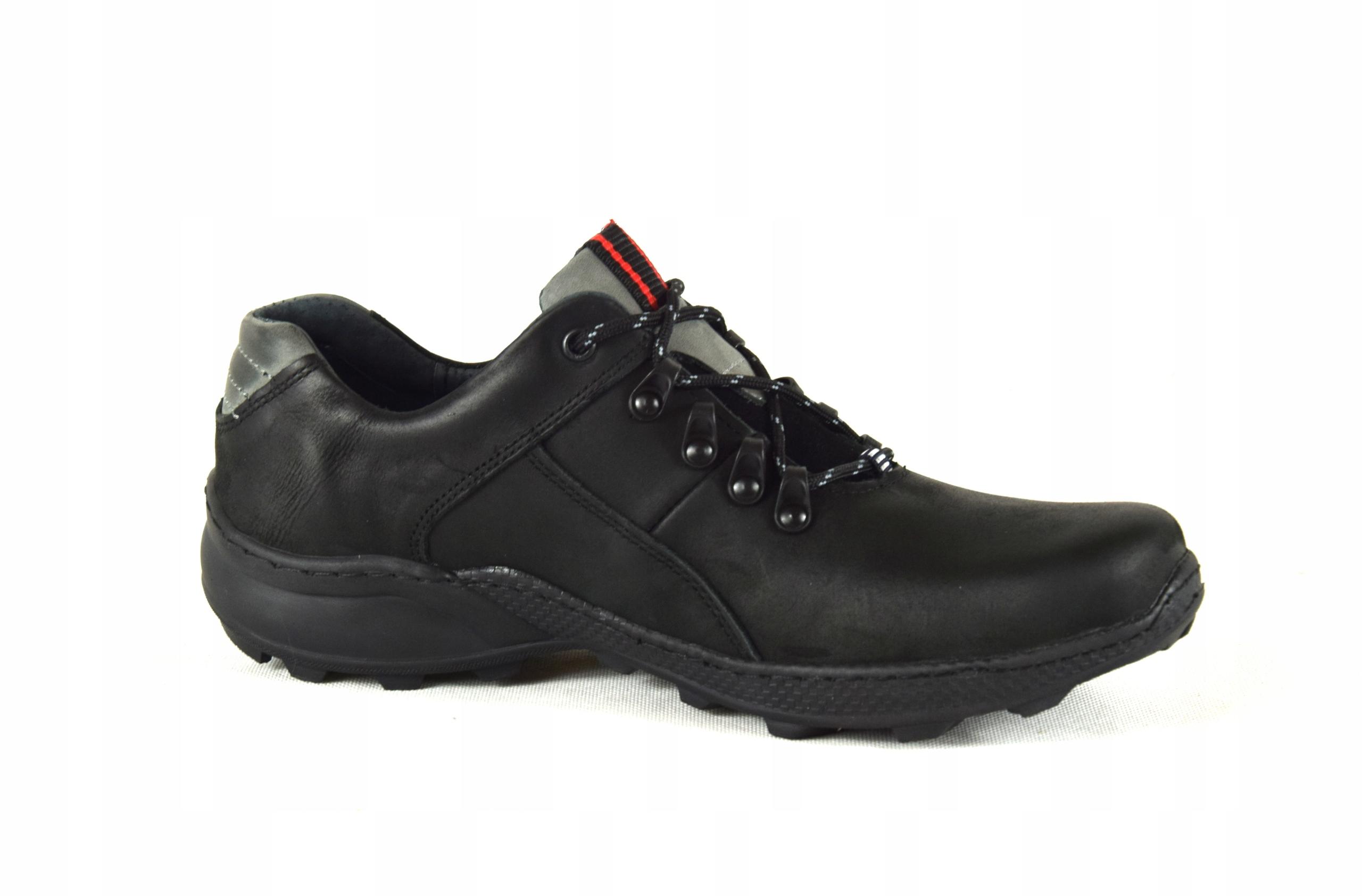Męskie skórzane obuwie trekkingowe ze skóry 296 Kod producenta 296