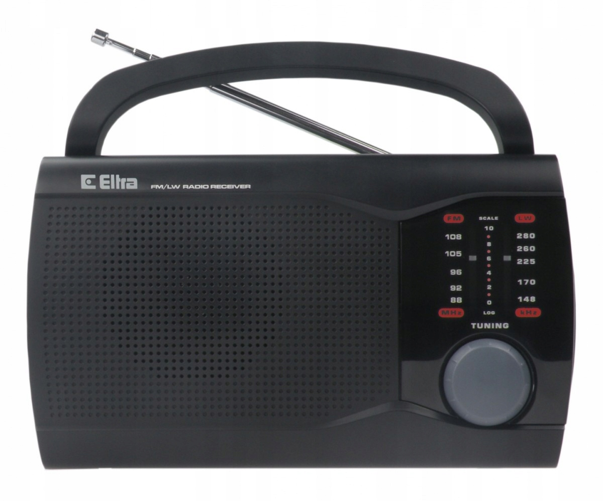 ELTRA Rádio prenosné retro EVA Black