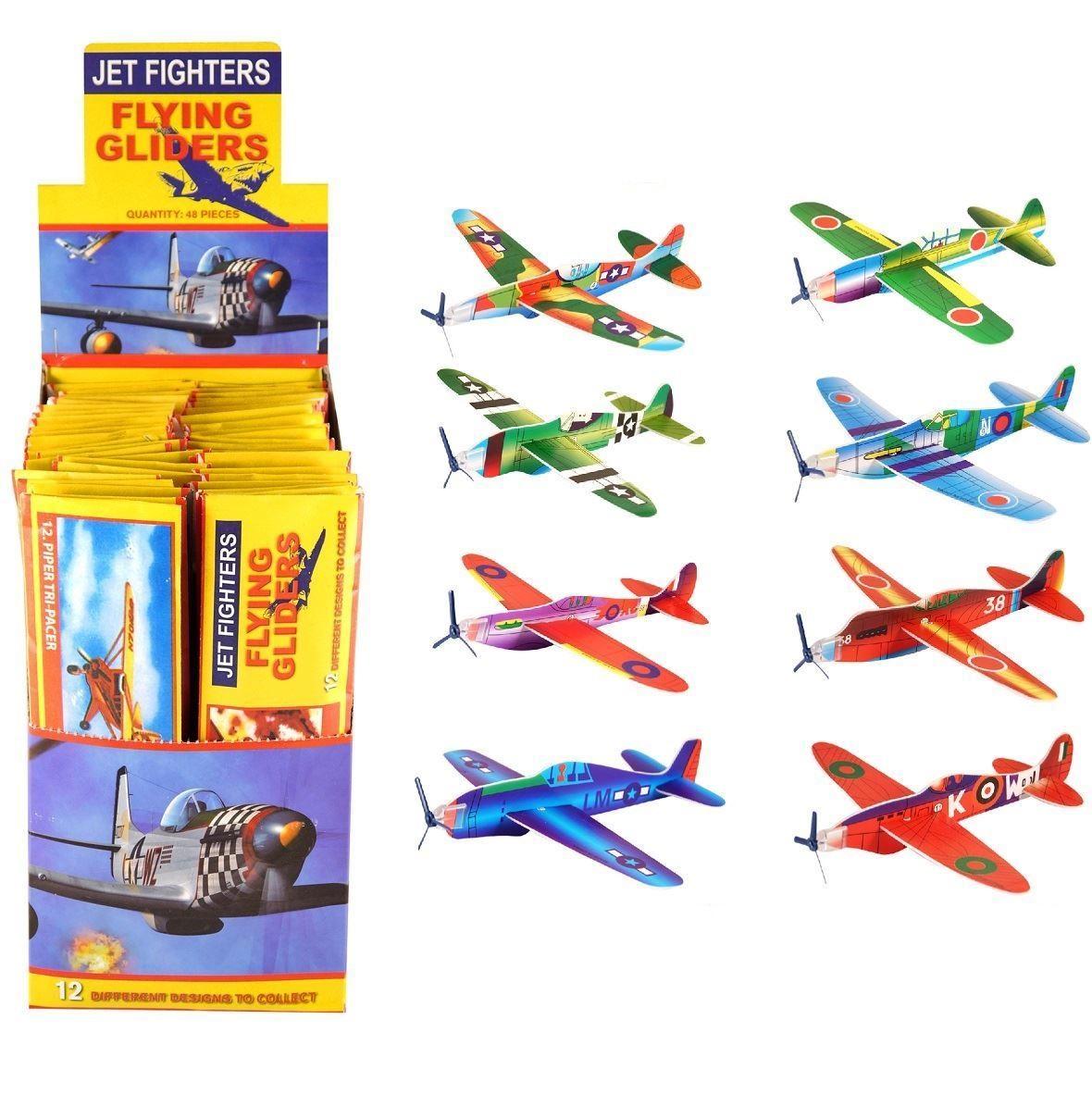 Retro polystyrénové lietadlo, lietajúce klzáky 8 kusov