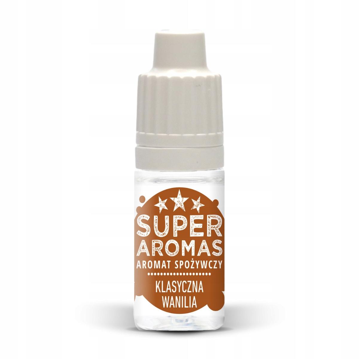 SUPER AROMAS Aromat KLASYCZNA WANILIA 10 ml