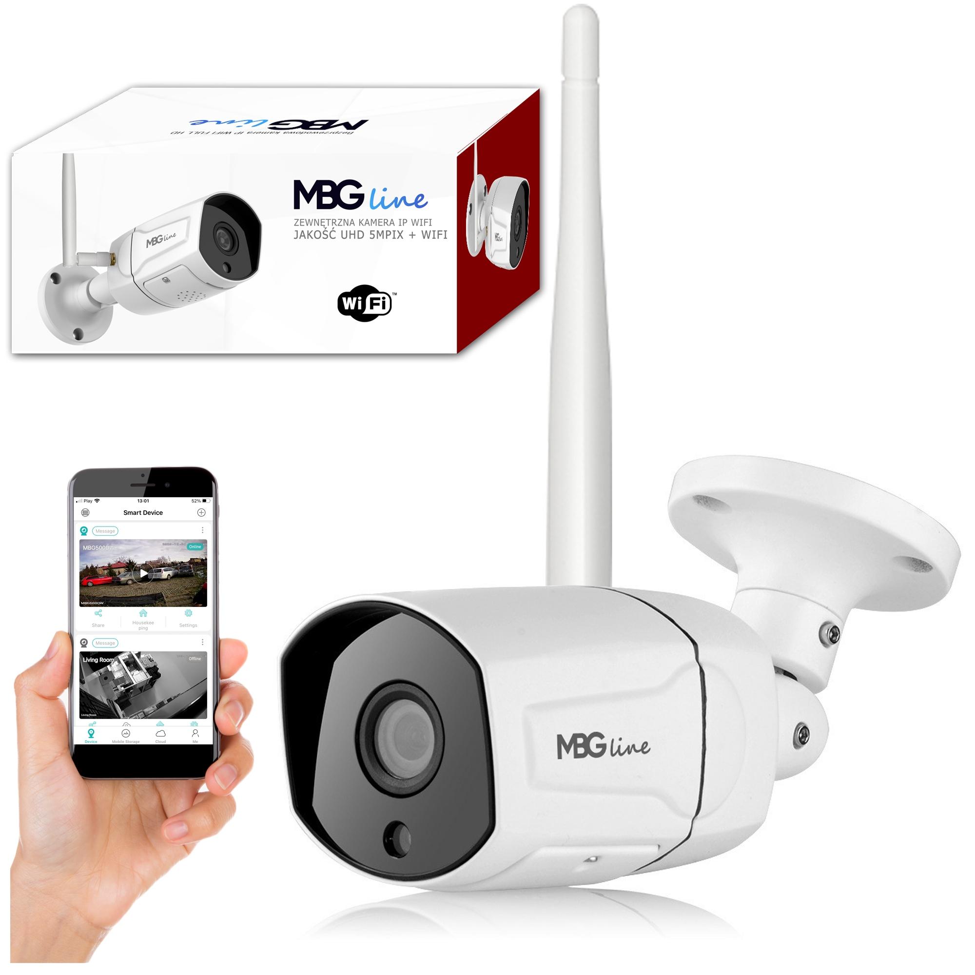 Zewnętrzna kamera IP H265 P2P UHD 5MPIX METAL WIFI