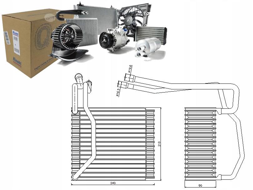 испаритель кондиционирования воздуха ford transit 20 tdci ff