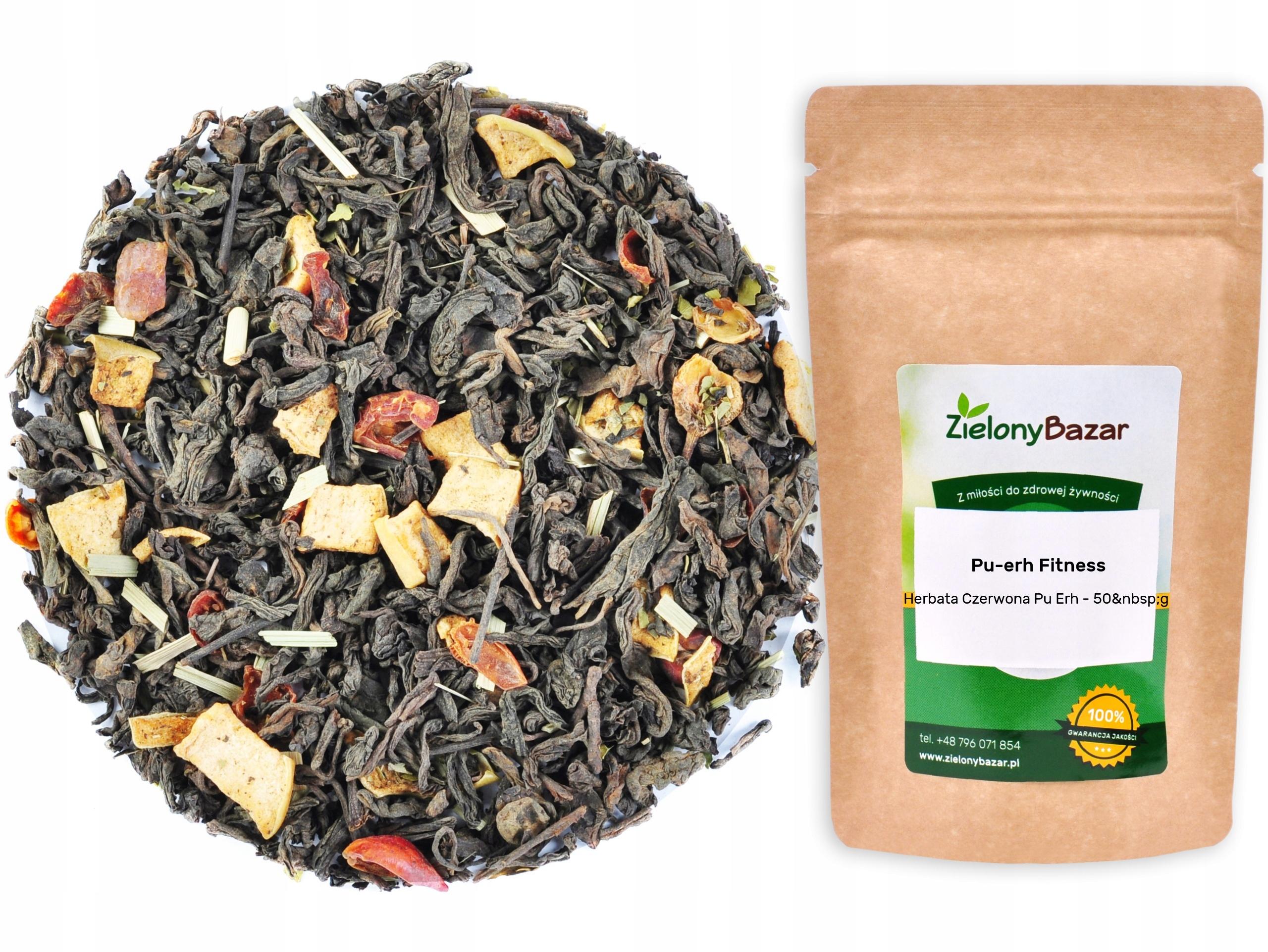 Czerwona Herbata PU ERH FITNESS 50g Na Odchudzanie