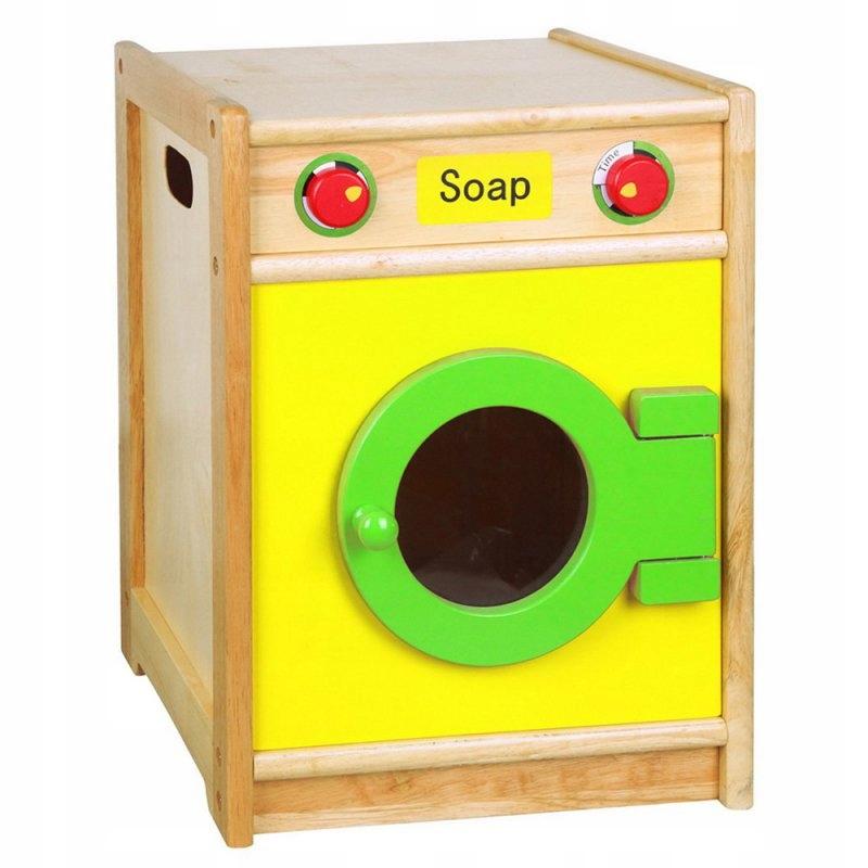 Drevená práčka pre detské domáce spotrebiče Viga Toys