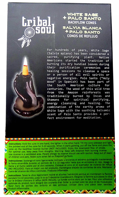 Kadzidełka stożkowe PALO SANTO SZAŁWIA TRIBAL 10 Marka Tribal Soul