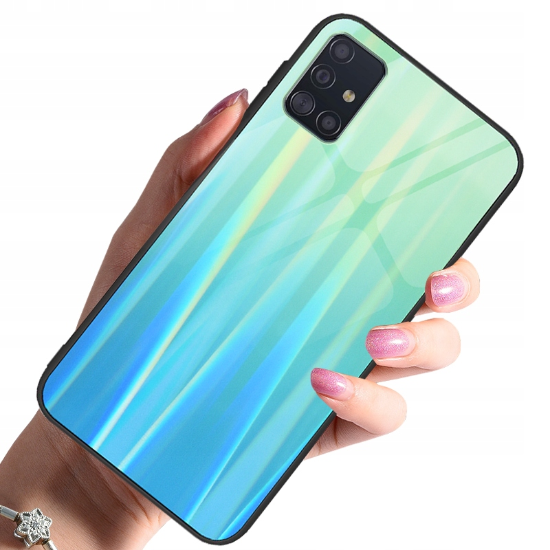 Etui do Samsung Galaxy A51 Case Glass + Szkło 9H