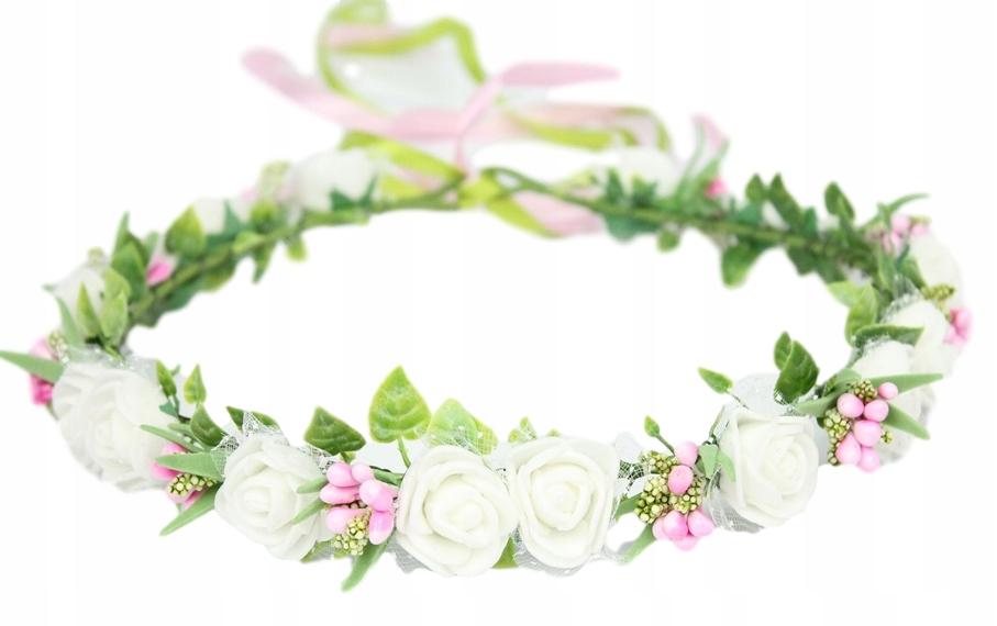 Венок причастия в стиле бохо в розовом стиле причастие розы