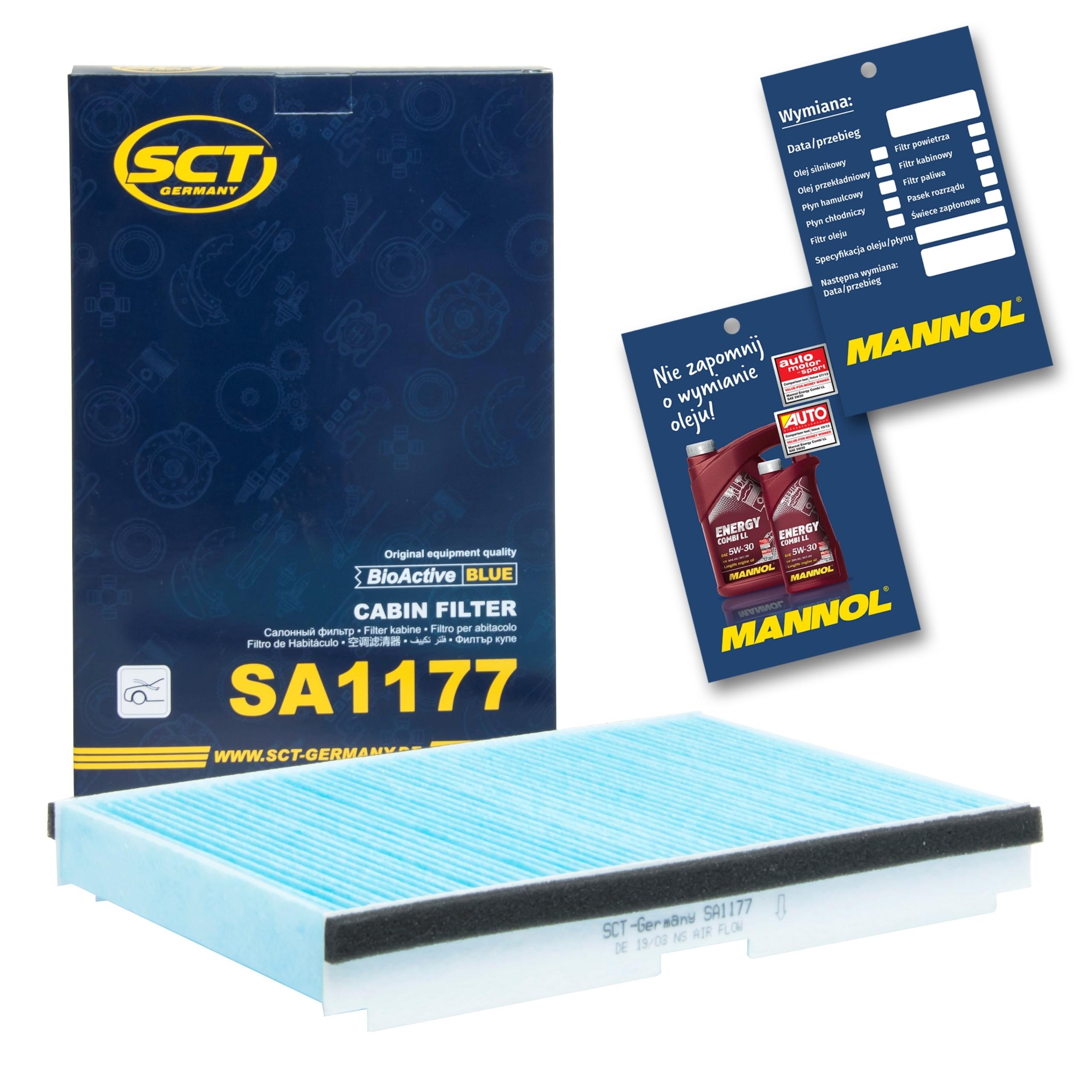 фильтр кабины sct sa1177 peugeot 307 308 1007