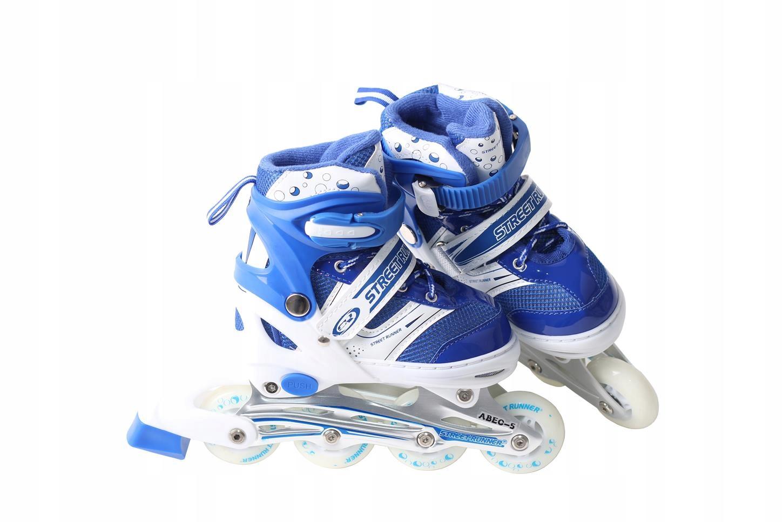Odolné kolieskové korčule ABEC5, nastaviteľné, veľkosť 31-34