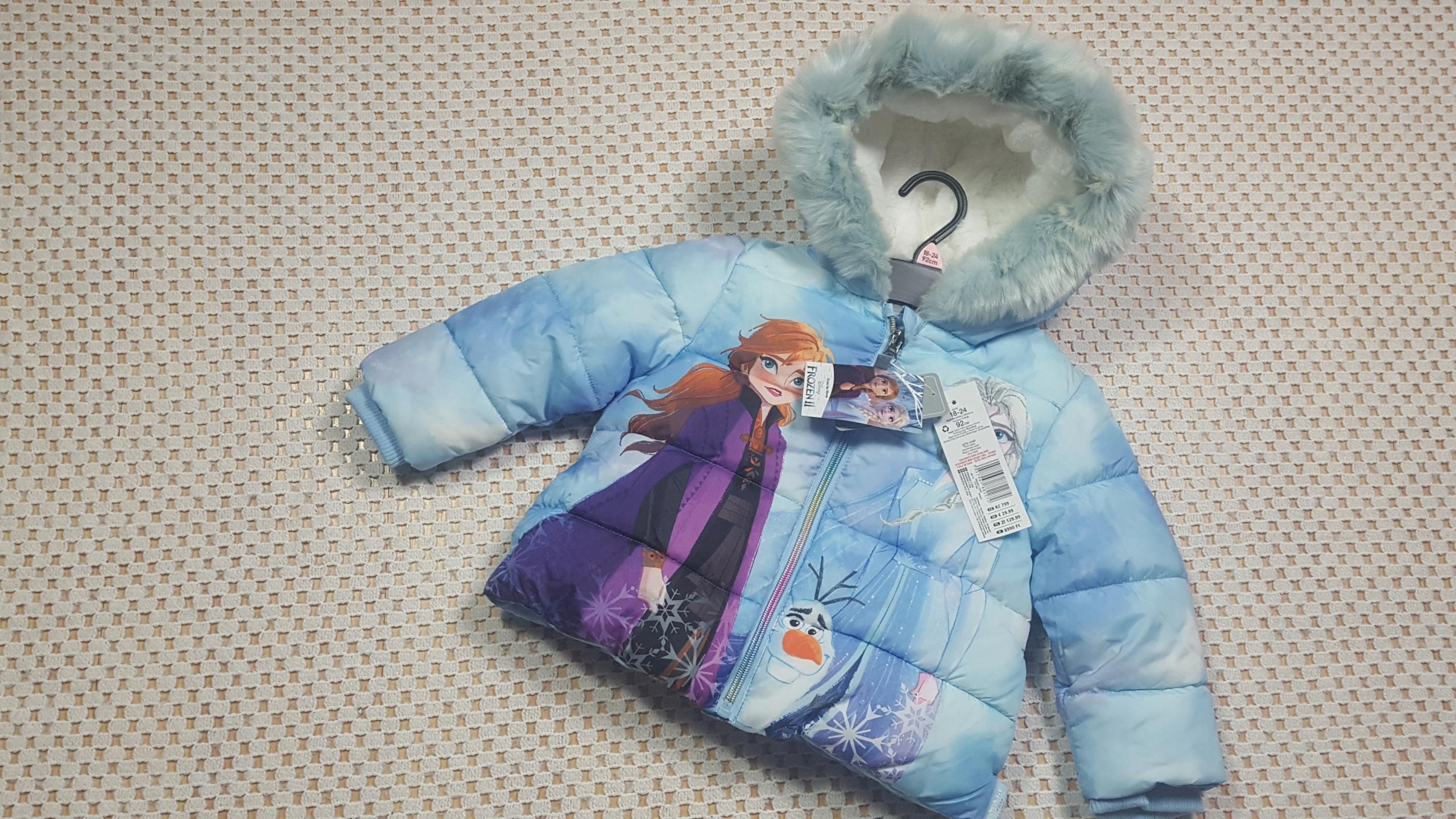 DISNEY FROZEN 2 nová zimná bunda veľkosť 92