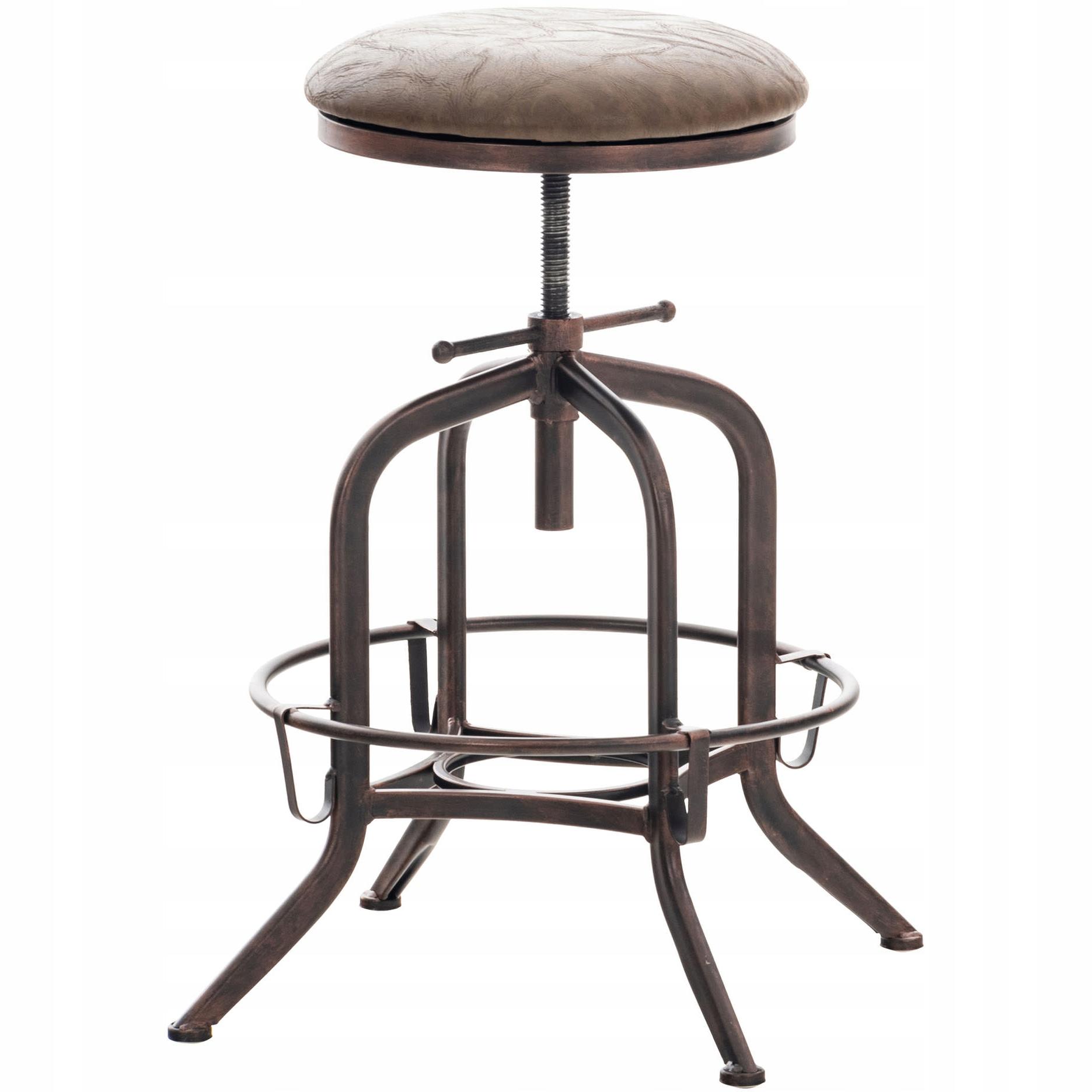 Barová stolička AVADI Retro hnedá v hnedej koženke